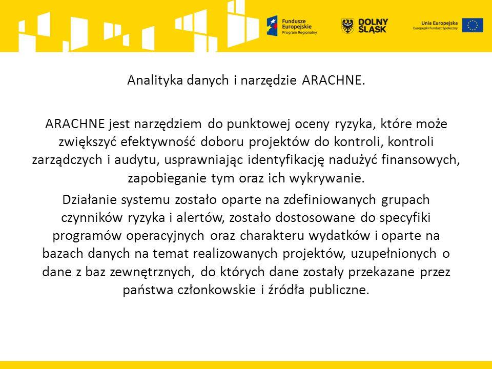 Analityka danych i narzędzie ARACHNE. ARACHNE jest narzędziem do punktowej oceny ryzyka, które może zwiększyć efektywność doboru projektów do kontroli
