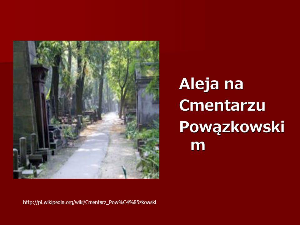 Aleja na Cmentarzu Powązkowski m http://pl.wikipedia.org/wiki/Cmentarz_Pow%C4%85zkowski