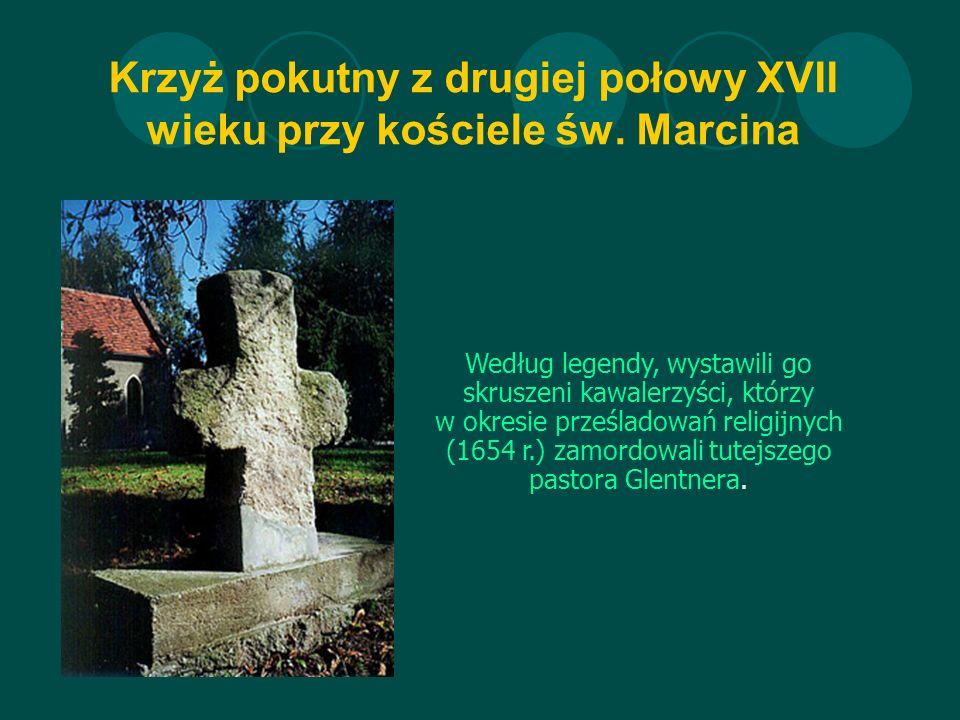 Krzyż pokutny z drugiej połowy XVII wieku przy kościele św.