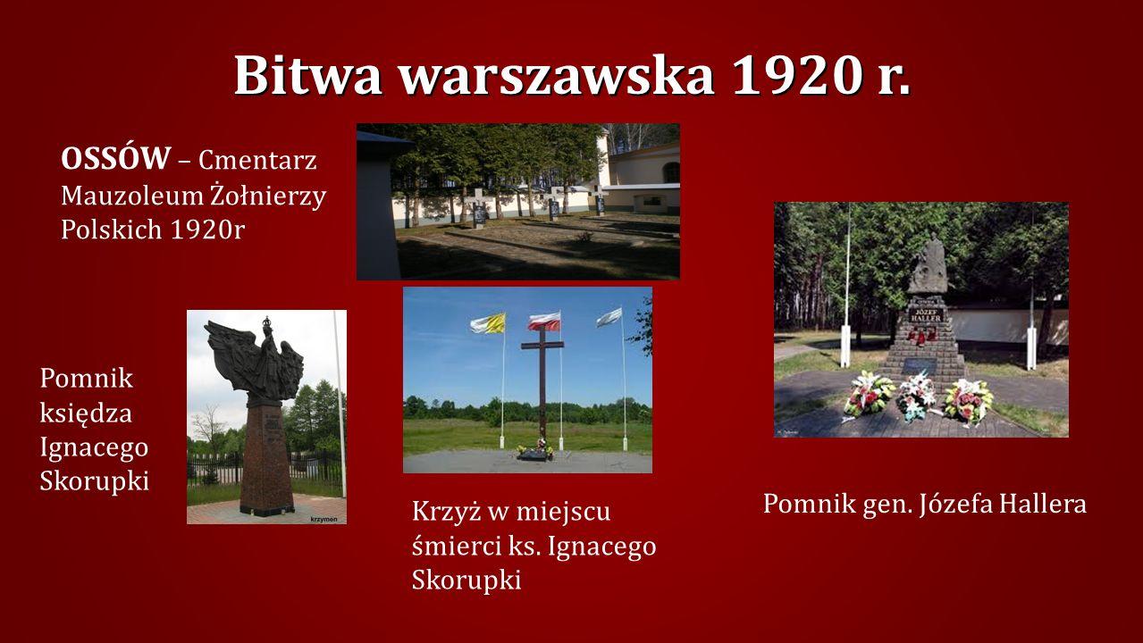 Mogiła żołnierzy polskich 1920 r. na Cmentarzu parafialnym w Kobyłce Bitwa warszawska 1920 r.