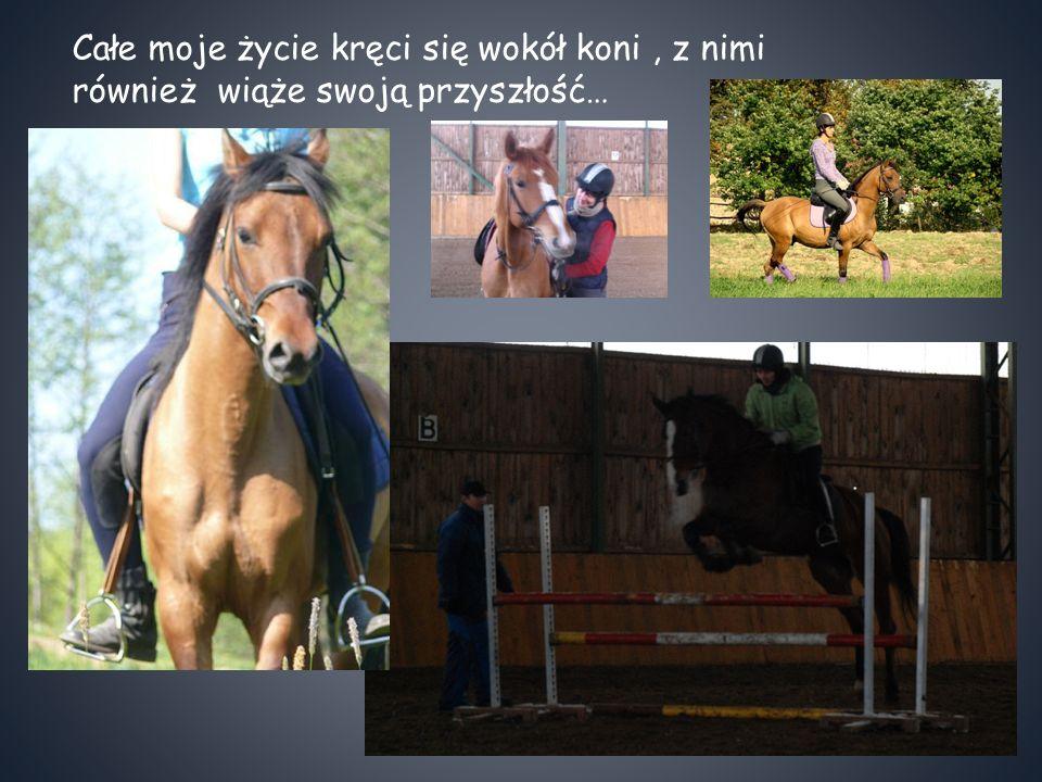 Całe moje życie kręci się wokół koni, z nimi również wiąże swoją przyszłość…