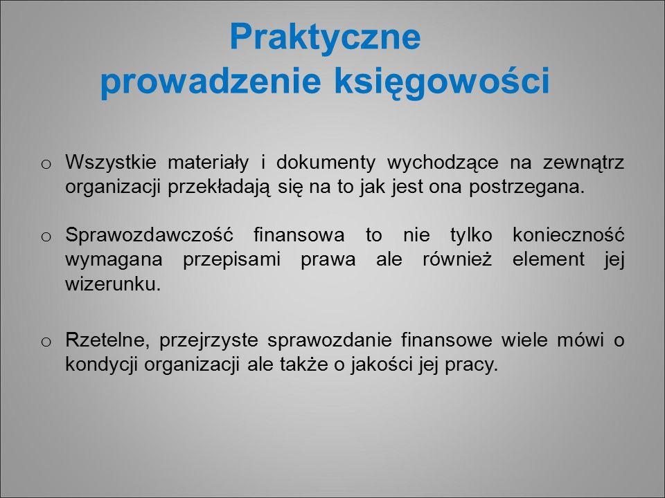 Praktyczne prowadzenie księgowości o Wszystkie materiały i dokumenty wychodzące na zewnątrz organizacji przekładają się na to jak jest ona postrzegana.