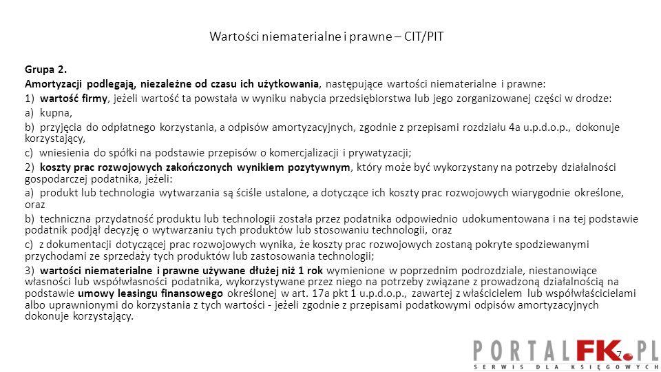 ŚT nabyte (częściowo) nieodpłatnie - odpisy Art.16 ust.