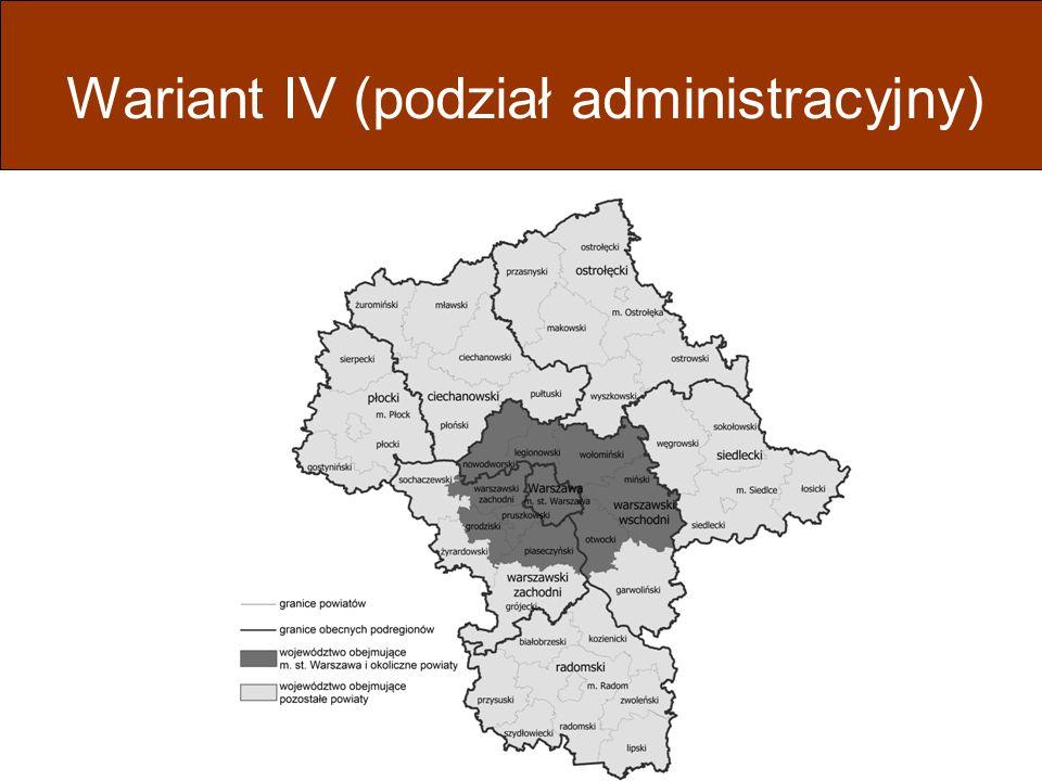 Wariant IV (podział administracyjny)