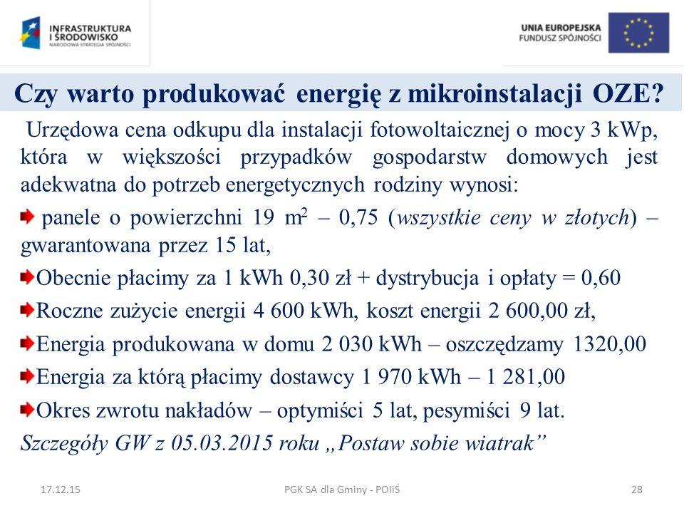 Czy warto produkować energię z mikroinstalacji OZE? Urzędowa cena odkupu dla instalacji fotowoltaicznej o mocy 3 kWp, która w większości przypadków go