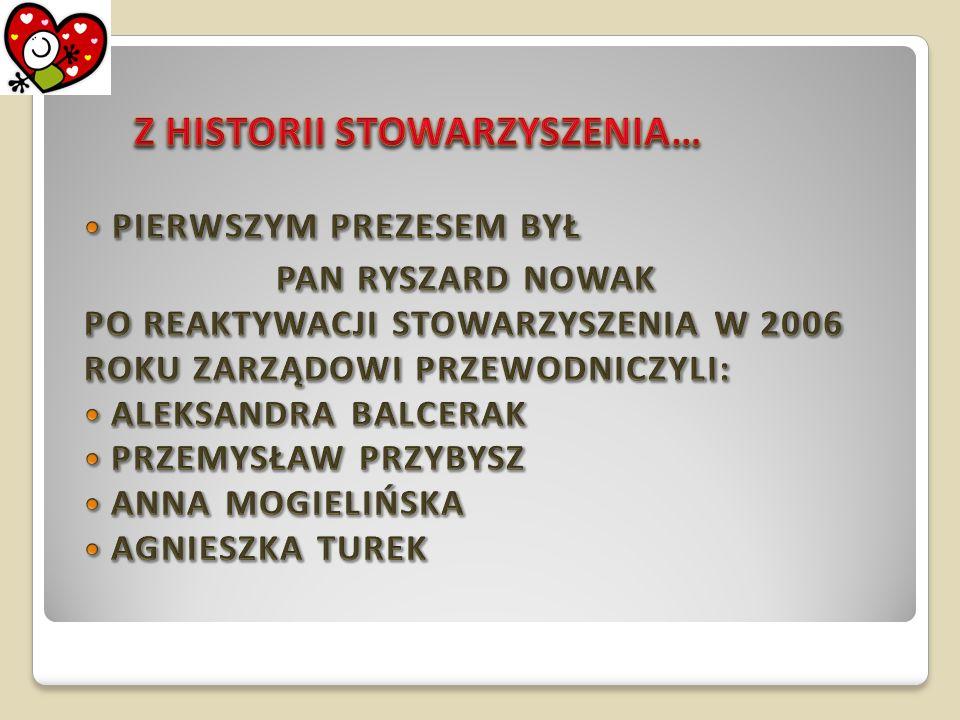 Agnieszka Turek Prezes Aleksandra Balcerak Zastępca Prezesa Anna Podgajna Zastępca Prezesa Marzena Jaworska Skarbnik