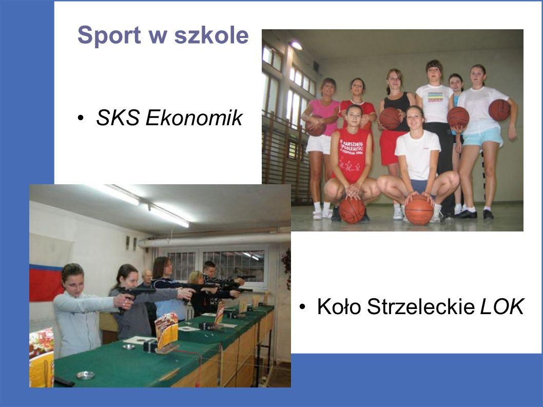 Sport w szkole SKS Ekonomik Koło Strzeleckie LOK