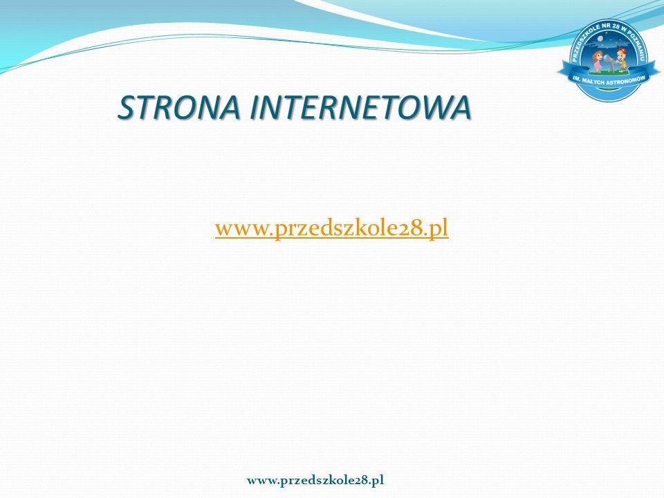 STRONA INTERNETOWA www.przedszkole28.pl