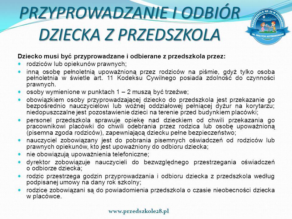 JAK PRZYGOTOWAĆ DZIECKO NA SPOTKANIE Z PRZEDSZKOLEM DNI ADAPTACYJNE 27 – 30 czerwca 2016 r.