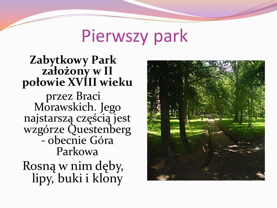 Pierwszy park Zabytkowy Park założony w II połowie XVIII wieku przez Braci Morawskich.