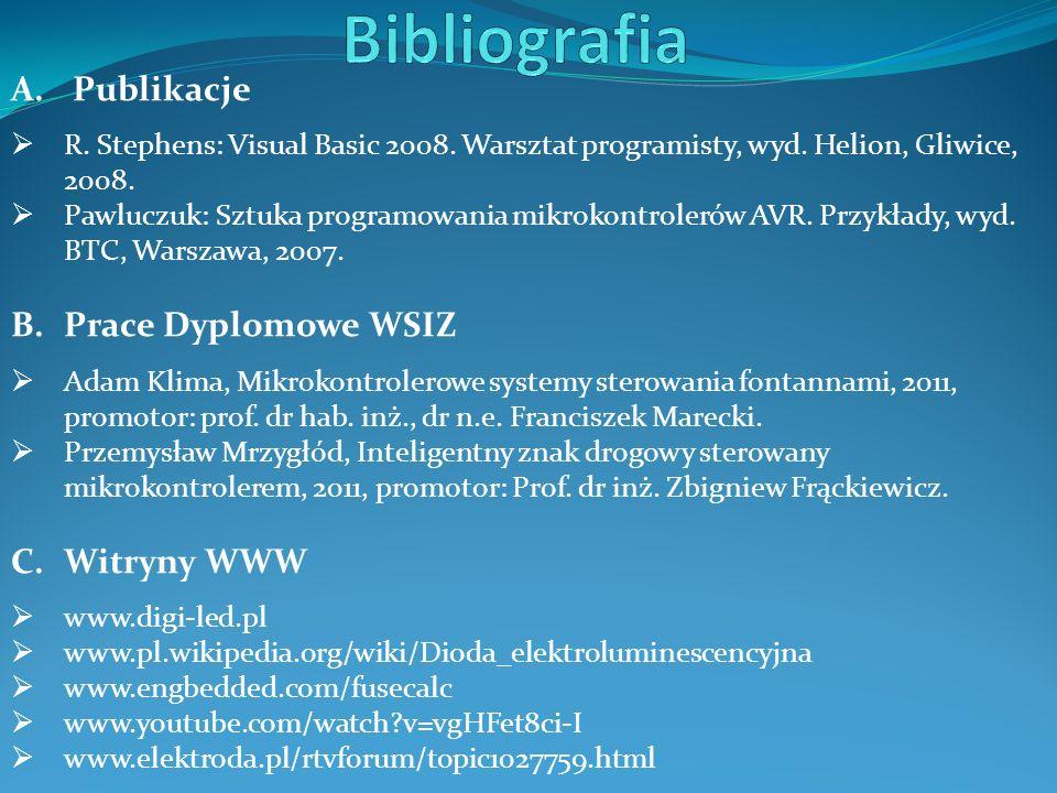 A. Publikacje  R. Stephens: Visual Basic 2008. Warsztat programisty, wyd.