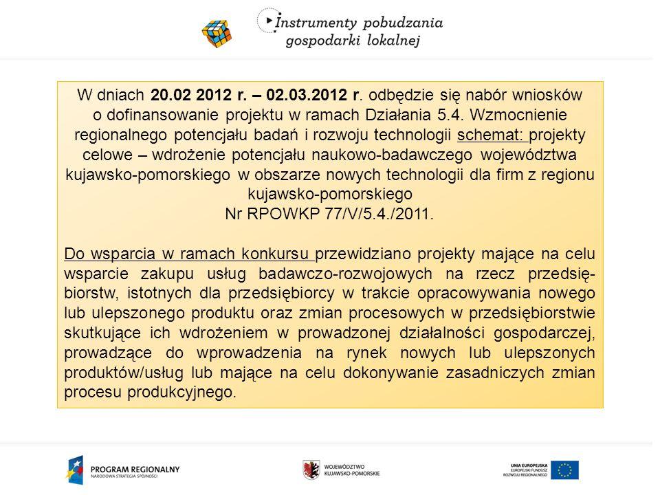 W dniach 20.02 2012 r. – 02.03.2012 r.