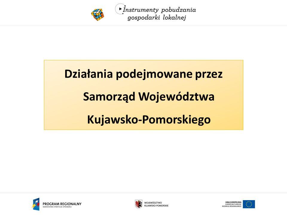Działania podejmowane przez Samorząd Województwa Kujawsko-Pomorskiego
