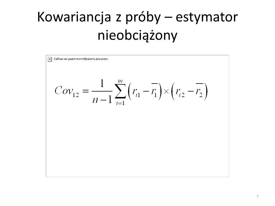 Alternatywny zapis współczynnika korelacji 8