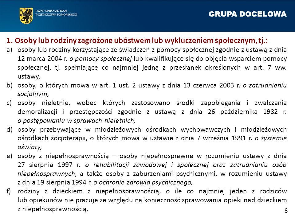 GRUPA DOCELOWA 8 1.