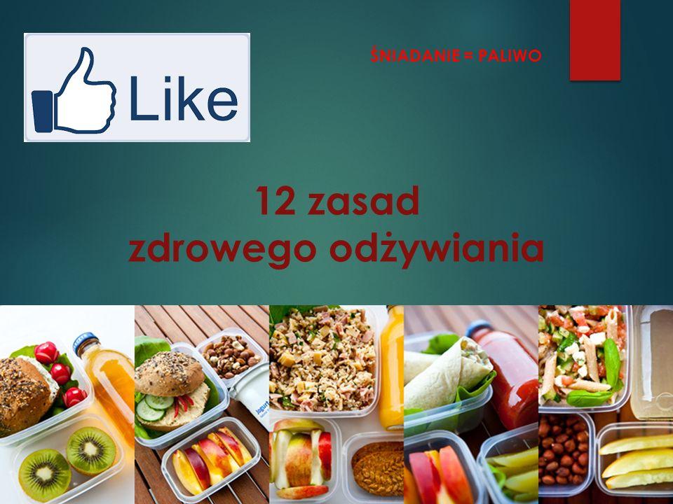 12 zasad zdrowego odżywiania ŚNIADANIE = PALIWO