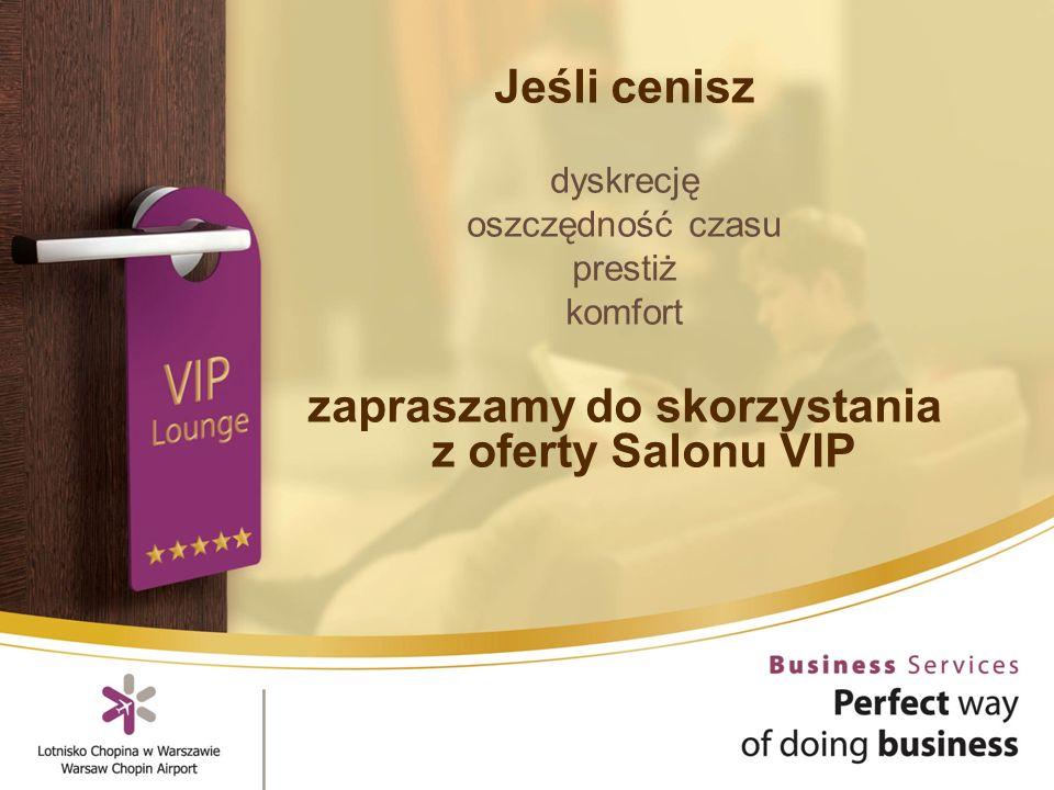 Jeśli cenisz dyskrecję oszczędność czasu prestiż komfort zapraszamy do skorzystania z oferty Salonu VIP