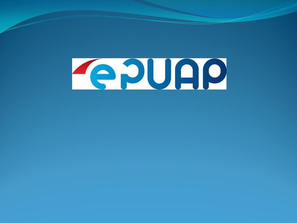Rejestracja na ePUAP (zakładanie konta) Aby zatwierdzić wprowadzone informacje użytkownik uruchamia przycisk: Załóż konto.