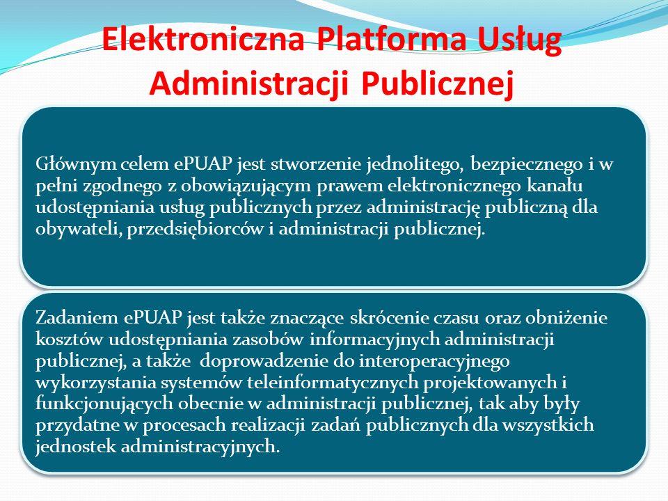 Logowanie do ePUAP Po naciśnięciu linku wyświetli się strona służąca do uwierzytelnienia się użytkownika w systemie ePUAP.