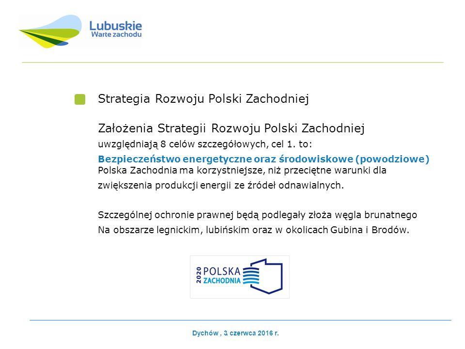 Strategia Rozwoju Polski Zachodniej Założenia Strategii Rozwoju Polski Zachodniej uwzględniają 8 celów szczegółowych, cel 1.