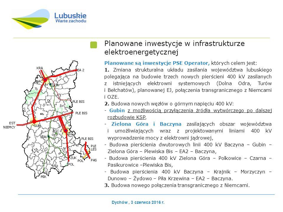 Planowane inwestycje w infrastrukturze elektroenergetycznej Planowane są inwestycje PSE Operator, których celem jest: 1.