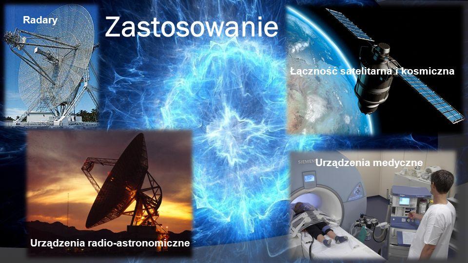 Zastosowanie Urządzenia radio-astronomiczne Radary Łączność satelitarna i kosmiczna Urządzenia medyczne