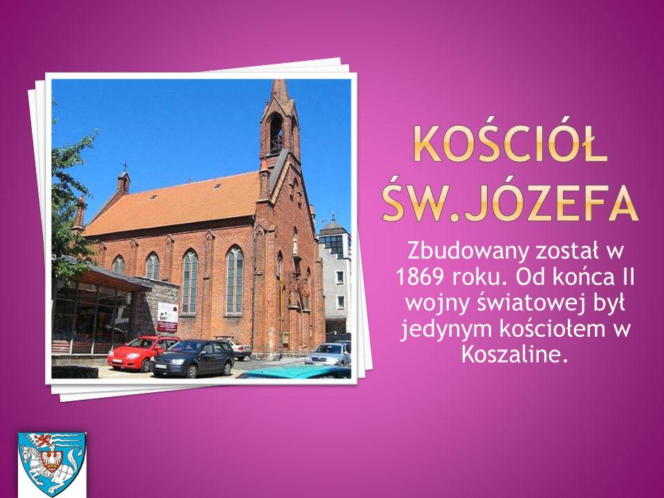 Zbudowany został w 1869 roku. Od końca II wojny światowej był jedynym kościołem w Koszaline.