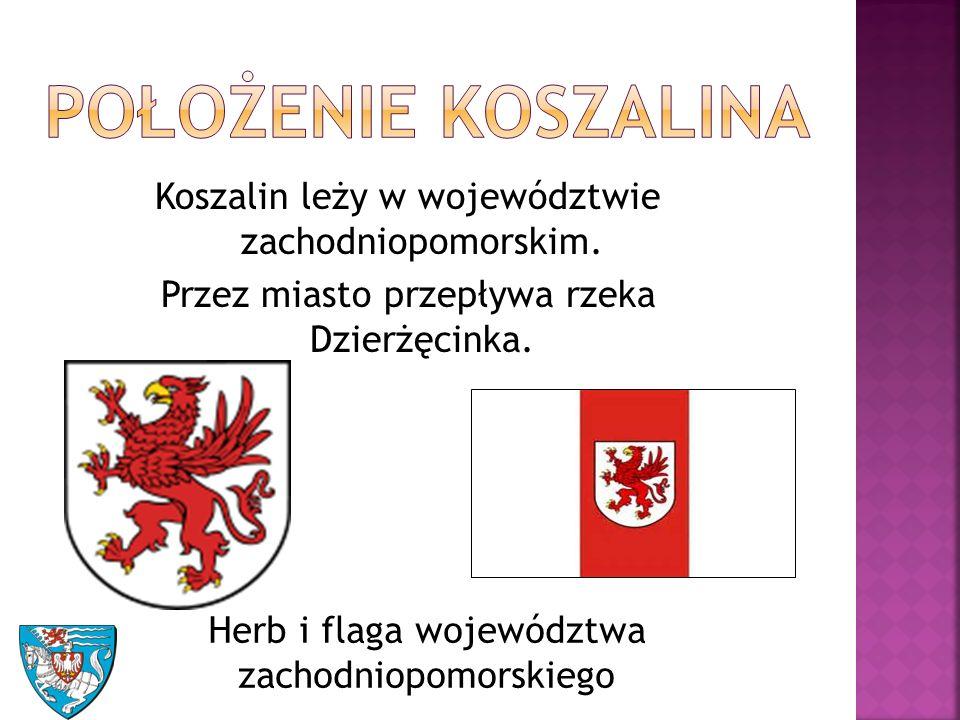 Koszalin leży w województwie zachodniopomorskim. Przez miasto przepływa rzeka Dzierżęcinka.
