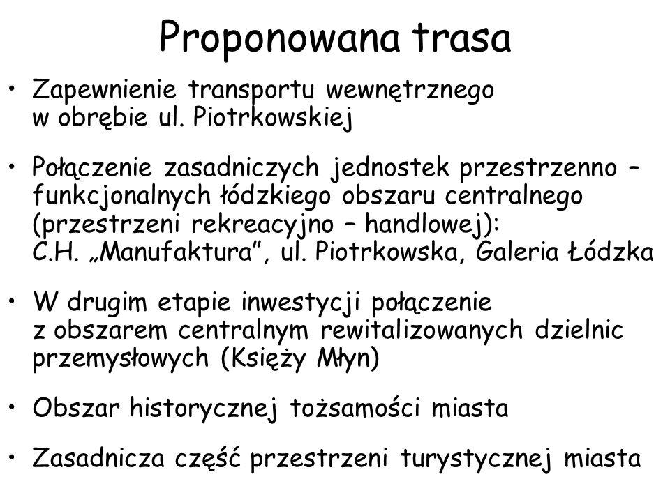 Proponowana trasa Zapewnienie transportu wewnętrznego w obrębie ul.