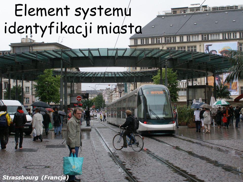 Element systemu identyfikacji miasta Strassbourg (Francja)