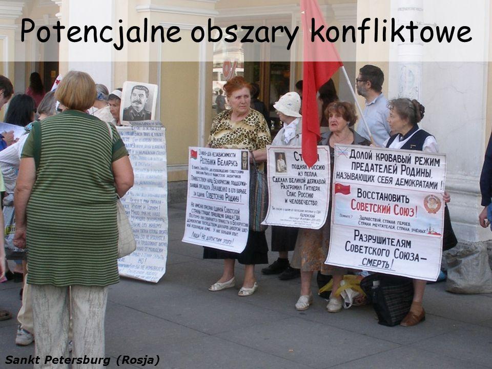 Potencjalne obszary konfliktowe Sankt Petersburg (Rosja)