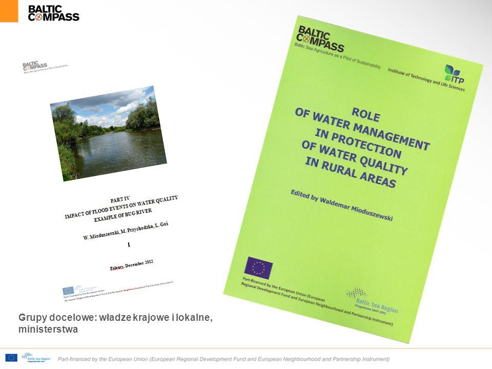 Grupy docelowe: władze krajowe i lokalne, ministerstwa