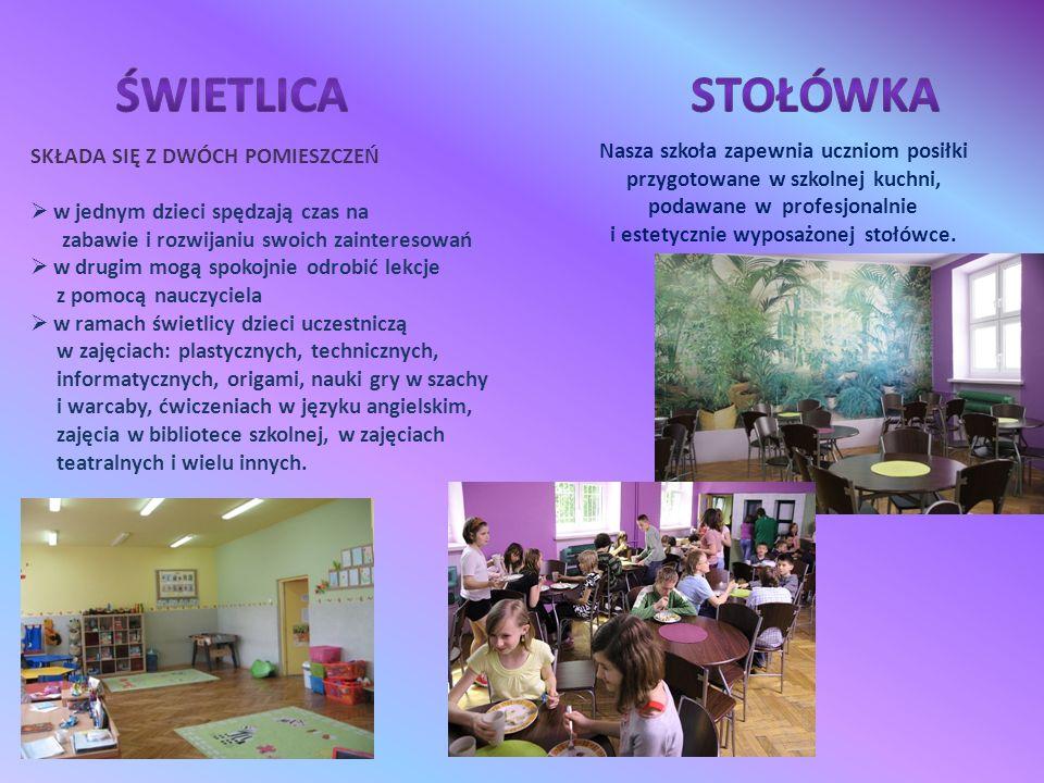 """Szkoła przystąpiła do programu rządowego """"Radosna Szkoła , dzięki któremu powstał zimowy plac zabaw."""