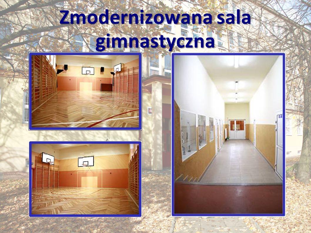 Zmodernizowana sala gimnastyczna