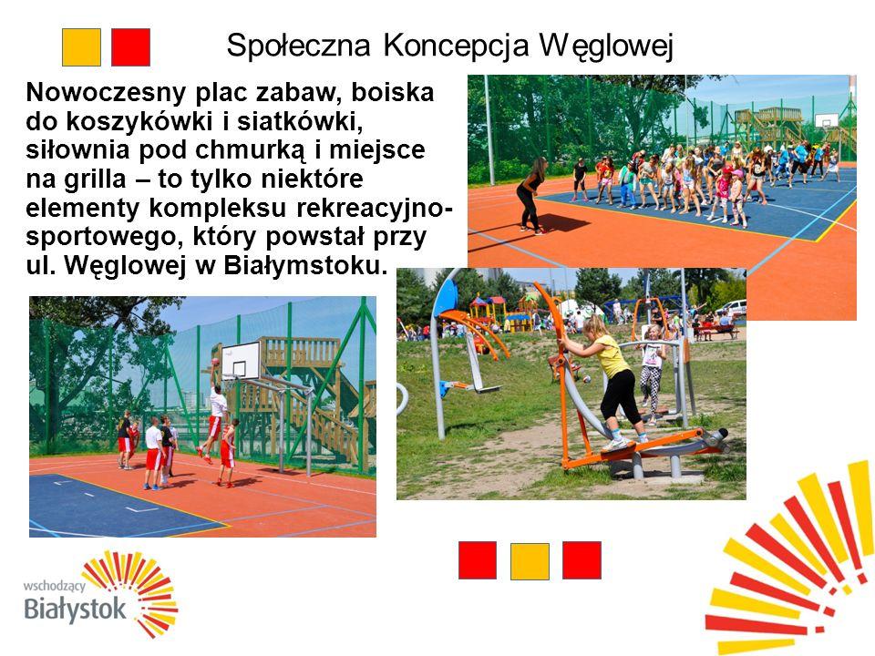 Społeczna Koncepcja Węglowej Nowoczesny plac zabaw, boiska do koszykówki i siatkówki, siłownia pod chmurką i miejsce na grilla – to tylko niektóre elementy kompleksu rekreacyjno- sportowego, który powstał przy ul.