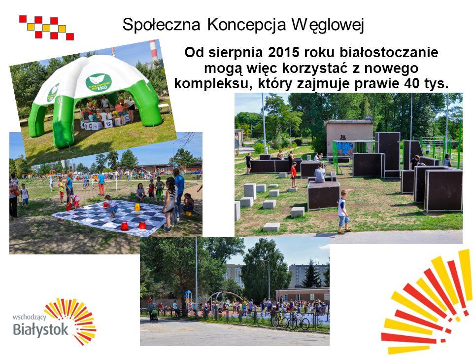 Społeczna Koncepcja Węglowej Od sierpnia 2015 roku białostoczanie mogą więc korzystać z nowego kompleksu, który zajmuje prawie 40 tys.
