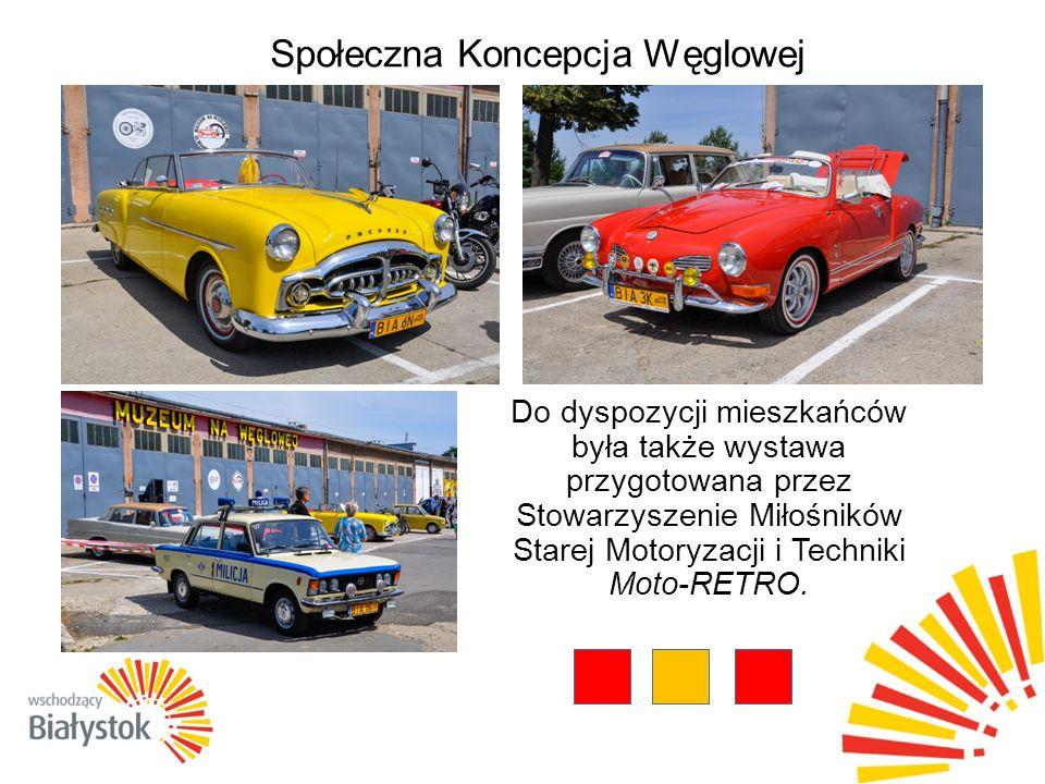 Społeczna Koncepcja Węglowej Do dyspozycji mieszkańców była także wystawa przygotowana przez Stowarzyszenie Miłośników Starej Motoryzacji i Techniki Moto-RETRO.