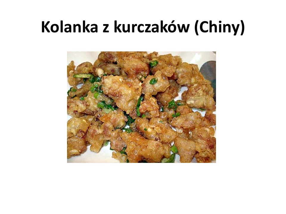 Kolanka z kurczaków (Chiny)
