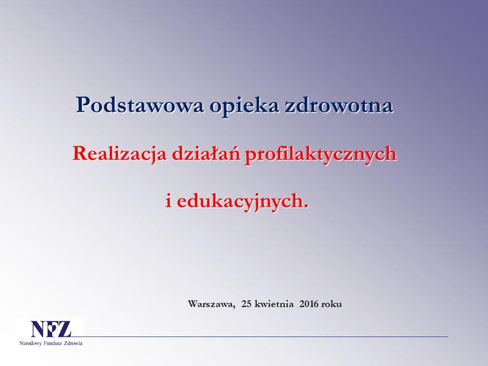 Szczegółowe podstawy prawne Rozporządzenie Ministra Zdrowia z dnia 20 października 2015 roku w sprawie zakresu zadań lekarza, pielęgniarki i położnej podstawowej opieki zdrowotnej, Rozporządzenie Ministra Zdrowia z dnia 28 sierpnia 2009 roku w sprawie organizacji profilaktycznej opieki nad dziećmi i młodzieżą, Rozporządzenie Ministra Zdrowia z dnia 17 grudnia 2015 roku w sprawie świadczeń gwarantowanych z zakresu podstawowej opieki zdrowotnej.