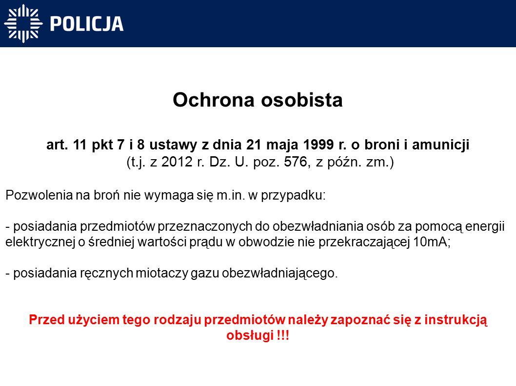Ochrona osobista art. 11 pkt 7 i 8 ustawy z dnia 21 maja 1999 r.