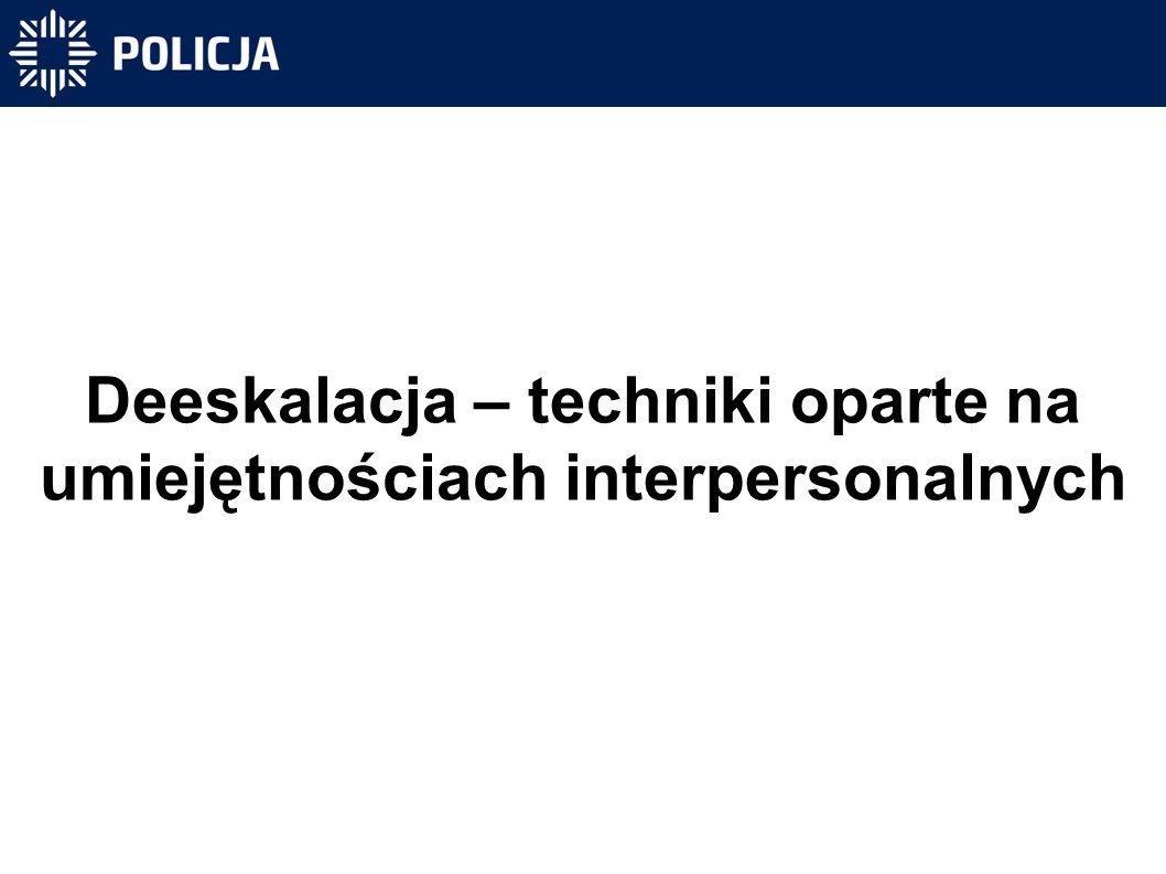 Deeskalacja – techniki oparte na umiejętnościach interpersonalnych