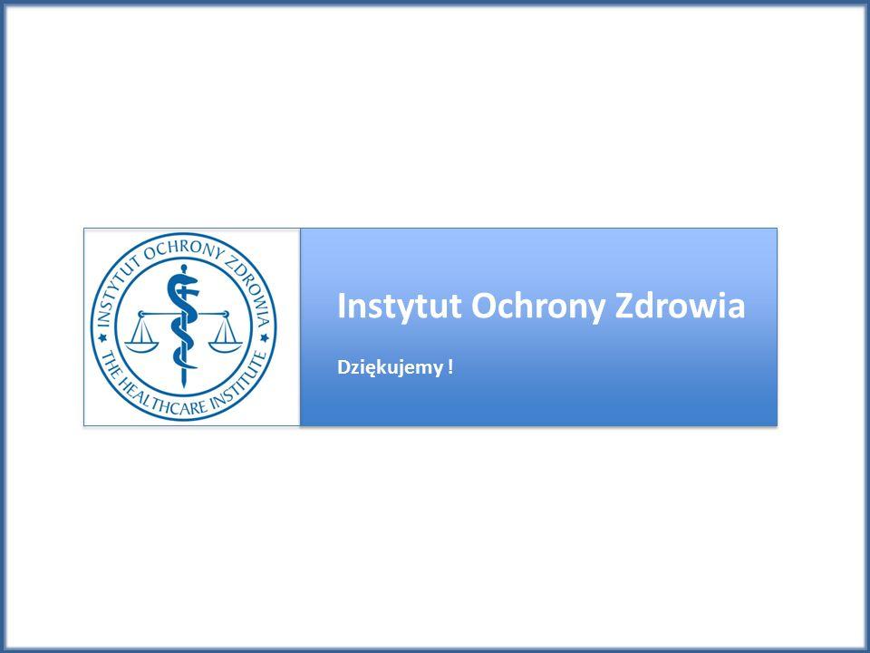 Instytut Ochrony Zdrowia Dziękujemy !