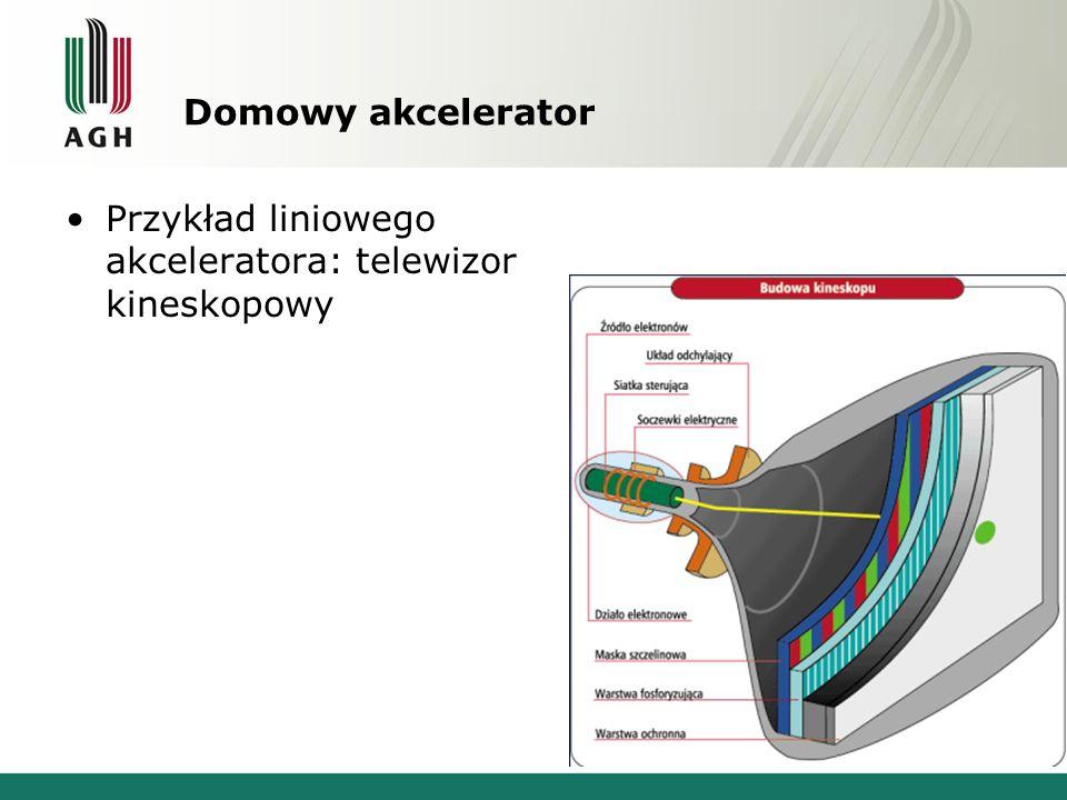 Domowy akcelerator Przykład liniowego akceleratora: telewizor kineskopowy