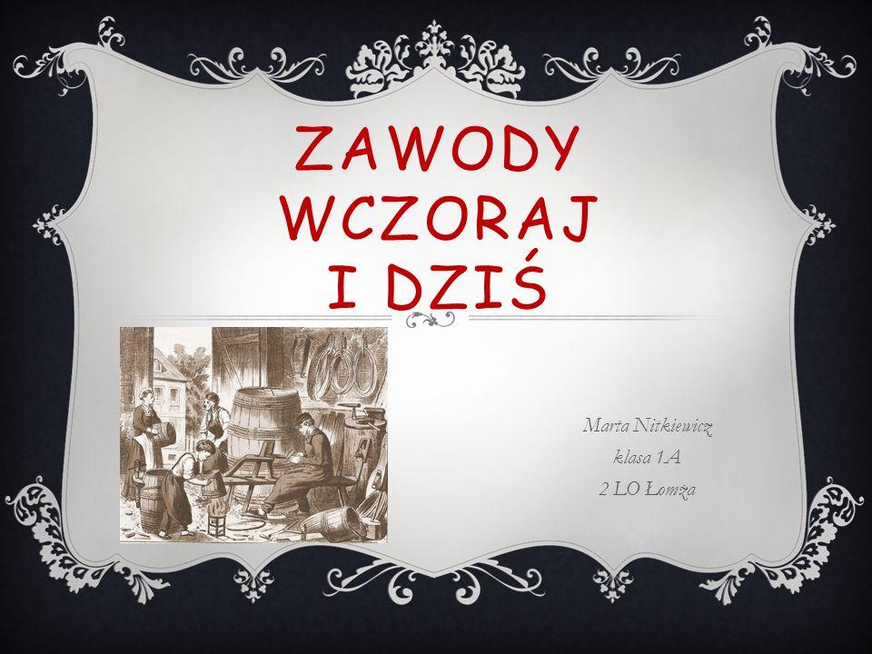 ZAWODY WCZORAJ I DZIŚ Marta Nitkiewicz klasa 1A 2 LO Łomża