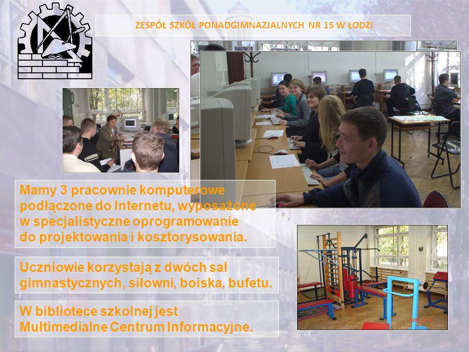 Uczniowie korzystają z dwóch sal gimnastycznych, siłowni, boiska, bufetu. W bibliotece szkolnej jest Multimedialne Centrum Informacyjne. ZESPÓŁ SZKÓŁ