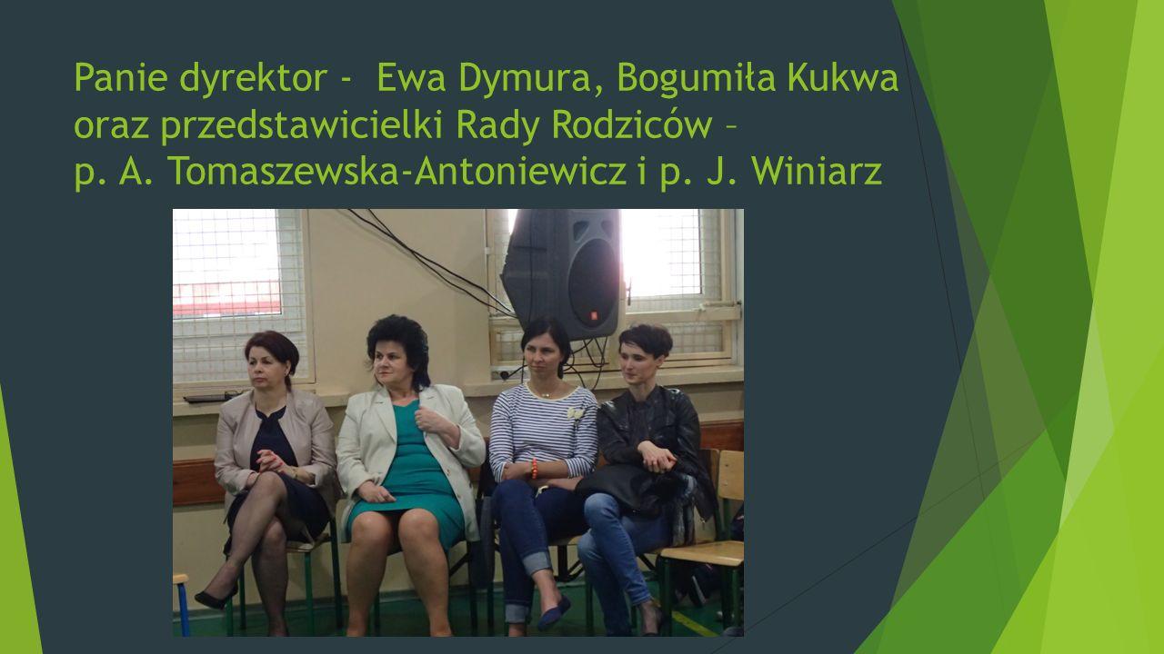 Panie dyrektor - Ewa Dymura, Bogumiła Kukwa oraz przedstawicielki Rady Rodziców – p.