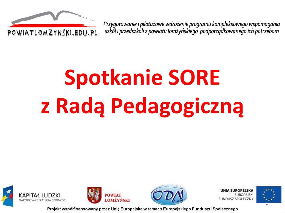 Spotkanie SORE z Radą Pedagogiczną 1