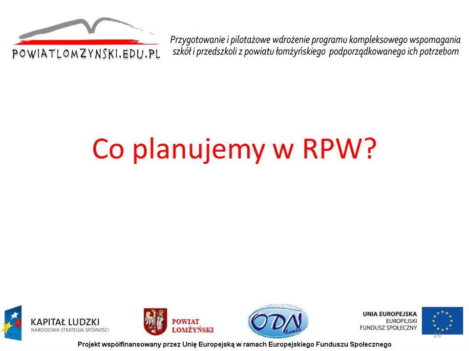 Co planujemy w RPW? 24