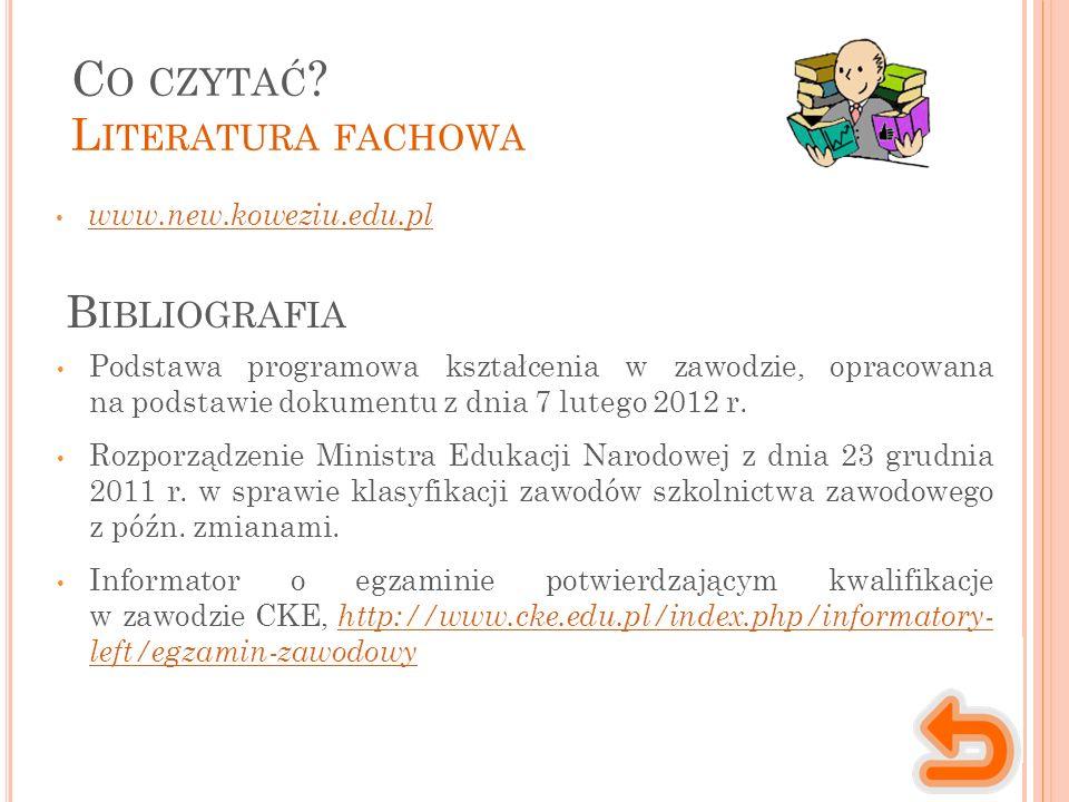 www.new.koweziu.edu.pl C O CZYTAĆ .
