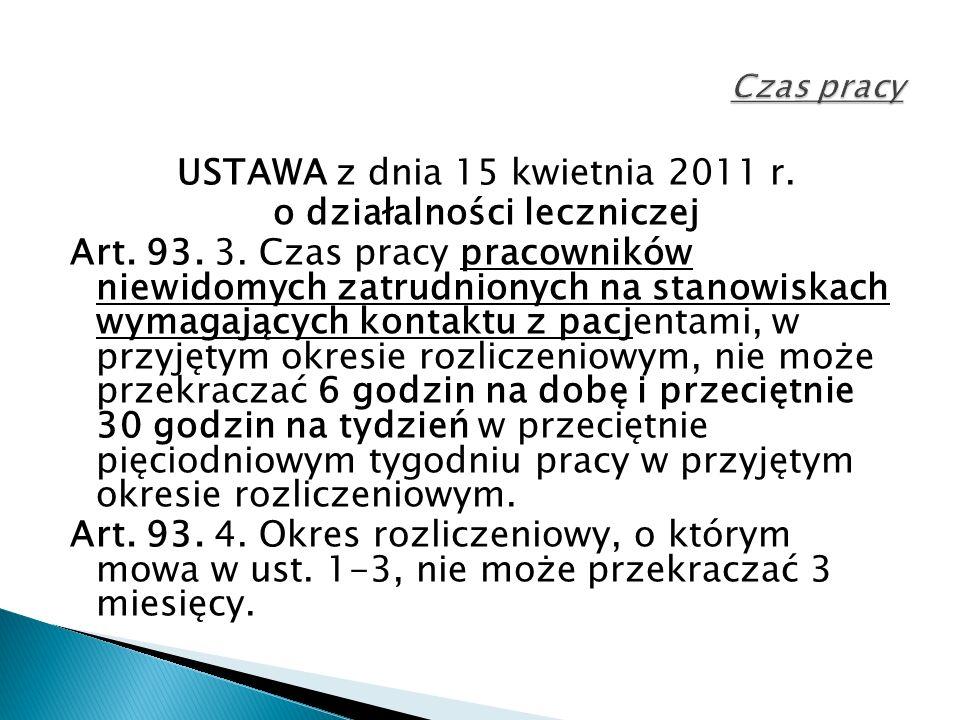 USTAWA z dnia 15 kwietnia 2011 r. o działalności leczniczej Art.